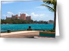 Atlantis Across The Harbor Greeting Card