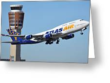 Atlas Air Boeing 747-446 N465mc Phoenix Sky Harbor January 12 2015 Greeting Card