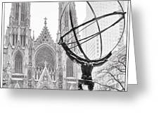 Atlas And The Cathedral Greeting Card by Vicki Jauron
