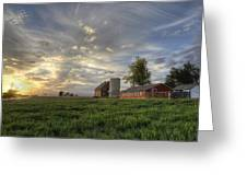 Atmosphere And Alfalfa - Larimer County, Colorado Greeting Card