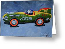 Atom Racer  Greeting Card