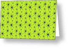 Atomic Starbursts Mini Greeting Card by Donna Mibus