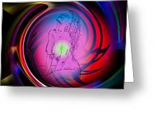 Atrium Abstract - Perfection Akt Greeting Card