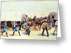 Attack On The Supply Train 1885 Greeting Card