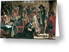 Attempted Arrest Of 5 Members Of The House Of Commons By Charles I Greeting Card by Charles West Cope