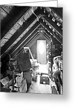 Attic Space Bw Greeting Card