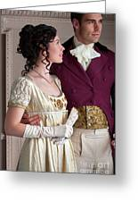Attractive Regency Couple Greeting Card