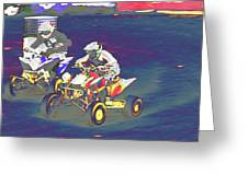 Atv Racing Greeting Card