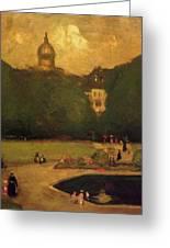 Au Jardin Du Luxembourg 1899 Greeting Card
