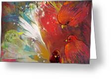 Au Pays Des Oiseaux Greeting Card