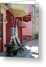 Au Petit Hotel Quebec City  6525 Greeting Card