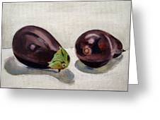 Aubergines Greeting Card