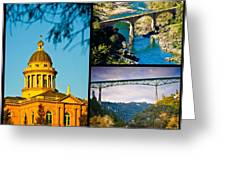 Auburn California Triptych 2 Greeting Card by Sherri Meyer