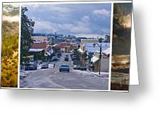 Auburn California Triptych Greeting Card by Sherri Meyer