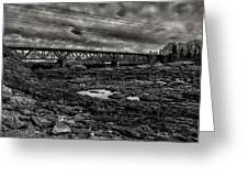 Auburn Lewiston Railway Bridge Greeting Card