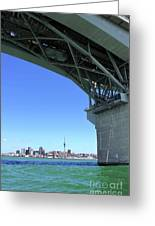 Auckland Harbour And Bridge Greeting Card