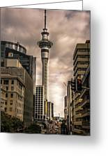 Auckland Sky Tower Greeting Card