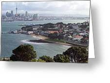 New Zealand - Picturesque Devonport Beach Greeting Card