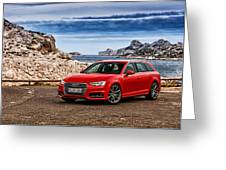 Audi A4 Greeting Card