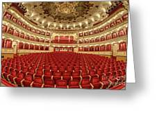 Auditorium Of The Great Theatre - Opera Greeting Card