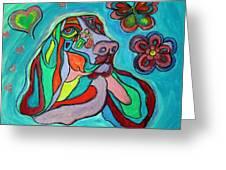Audrey Basset Hound Greeting Card
