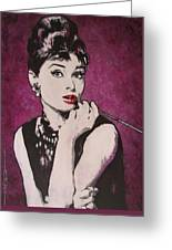 Audrey Hepburn - Breakfast Greeting Card