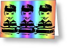 Audrey Hepburn Art Greeting Card
