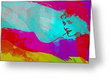 Audrey Hepburn Greeting Card by Naxart Studio