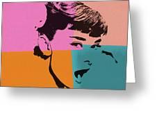 Audrey Hepburn Pop Art 2 Greeting Card