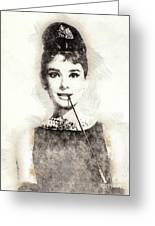Audrey Hepburn Portrait 01 Greeting Card