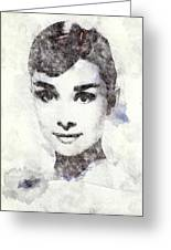 Audrey Hepburn Portrait 02 Greeting Card