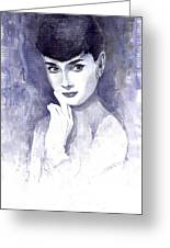 Audrey Hepburn  Greeting Card by Yuriy  Shevchuk
