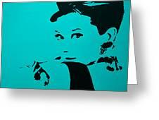 Audrey Light Blue Greeting Card