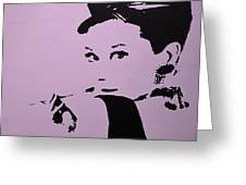 Audrey Pink Greeting Card