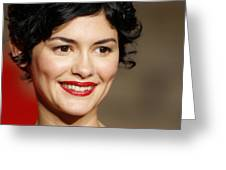 Audrey Tautou Greeting Card