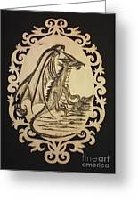 Audrey's Dragon Greeting Card by Ginny Youngblood