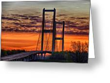 Audubon Bridge Sunrise Greeting Card