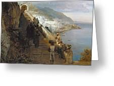 Aufgang Zum Kloster Greeting Card