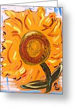 August 7 Late Day Sunflower Greeting Card