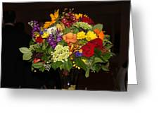 August Bouquet Greeting Card