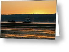 August Dawn At Esopus Light II Greeting Card