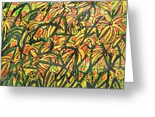 August Floral Greeting Card