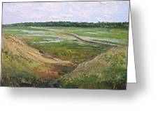 August Marsh Boardwalk Greeting Card
