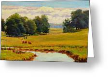 August Pastoral Greeting Card