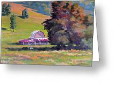 August Pastures Greeting Card