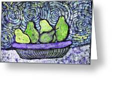 August Pears Greeting Card