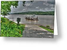 Historic Augusta Ferry. Greeting Card