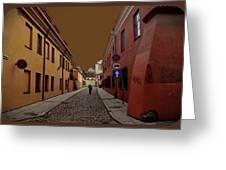 Augustojono Street Greeting Card
