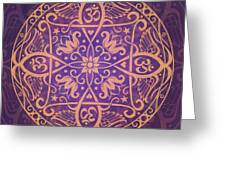 Aum Awakening Mandala Greeting Card