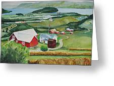 Aune Farm In Selbu Norway Greeting Card